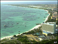 Hotels, north-east coast of Aruba