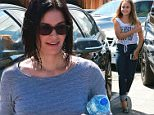 Courtney Cox and her daughter, by ex-husband David Arquette, got out for some mother-daughter bonding and physical pampering, with a visit to a local Beverly Hills Spa.  Courtney was dressed casual, in jeans and a tight, blue and white striped shirt, while daughter Coco has graduated to heels, wearing a teal pair, matching them with her toenail polish.  Friday, July 10, 2015 X17online.com\n