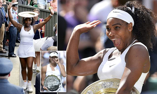 Serena Williams beats Garbine Muguruza to win her 6th Wimbledon title
