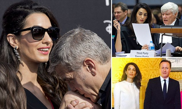Amal Clooney outdazzled George?Hollywood's ultimate alpha actor seems happy to be