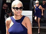 Rita Ora arrives at the Kosovan Embassy, London, where she will be made an honorary ambassador to Kosovo, for her contribution in raising awareness of her home country. PRESS ASSOCIATION Photo. Picture date: Friday July 10, 2015. See PA story SHOWBIZ Ora. Photo credit should read: Ian West/PA Wire