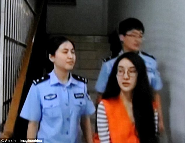 Downfall: Guo was arrested  for her role in a World Cup betting scandal... and finally admitted charging for sex