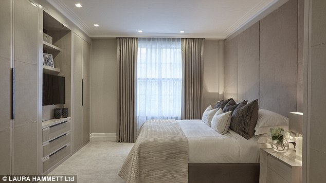The three large bedrooms are all done out in a neutral colour palette and each feature ensuite bathrooms