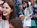 LONDON, ENGLAND - JULY 11:  Michelle Dockery attends day twelve of the Wimbledon Lawn Tennis Championships at the All England Lawn Tennis and Croquet Club on July 11, 2015 in London, England.  (Photo by Julian Finney/Getty Images)