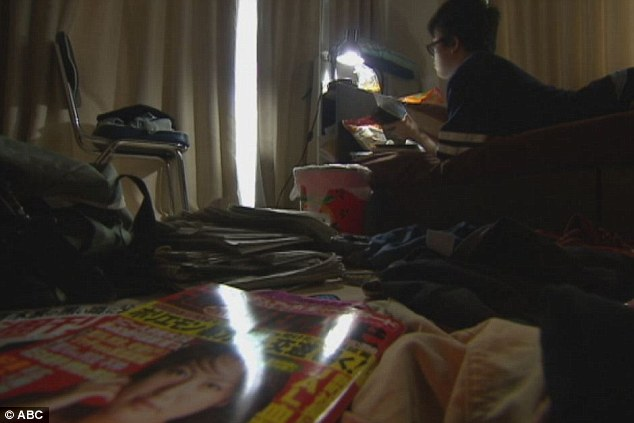 Yuto Onishi, 18, from Tokyo had not left his bedroom for almost three years before he sought treatment