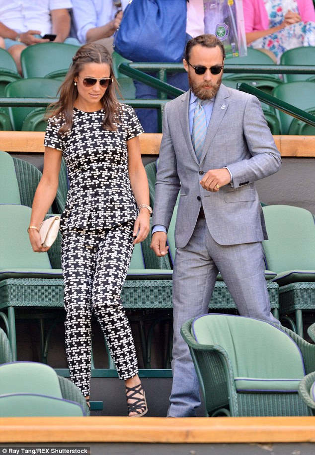 Pippa and brother James were seen making their way to their seats in the prestigious Royal Box