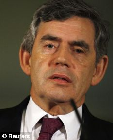 Support: Gordon Brown today