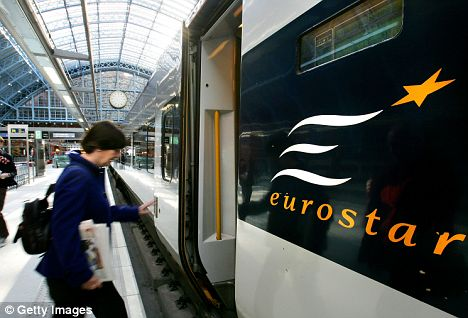 Speedy: Airlines want to set up a rival to the Eurostar and slash journey times from London to Paris to under two hours
