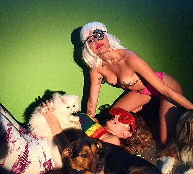 Outrageous behaviour: The 22-year-old hoped to break the internet with this wacky photo