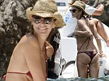 8.JULY.2015 - CAPRI - ITALY * EXCLUSIVE PICTURES AVAILABLE FOR UK USA GERMANY AND AUSTRALIA ONLY * THE SUPERMODEL ELLE MACPHERSON AKA THE BODY, 50 YEARS OLD, IS PICTURED SHOWING OFF HER TONED BIKINI BODY WHILE ENJOYING A HOLIDAY ON BOARD A SUPER YACHT IN CAPRI. BYLINE MUST READ : XPOSUREPHOTOS.COM ***UK CLIENTS - PICTURES CONTAINING CHILDREN PLEASE PIXELATE FACE PRIOR TO PUBLICATION *** **UK CLIENTS MUST CALL PRIOR TO TV OR ONLINE USAGE PLEASE TELEPHONE 44 208 370 0291**