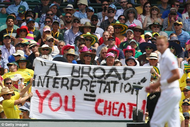The Australian public let rip at Broad during the last Ashes Down Under, branding him a cheat