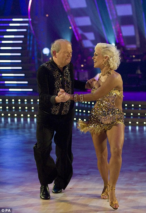 John Sergeant dancing with Kristina Rihanoff on Strictly Come Dancing