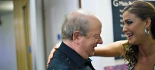 So that's what George Clooney is missing': broadcaster John Sergeant gets a pat of encouragement from Lisa Snowdon