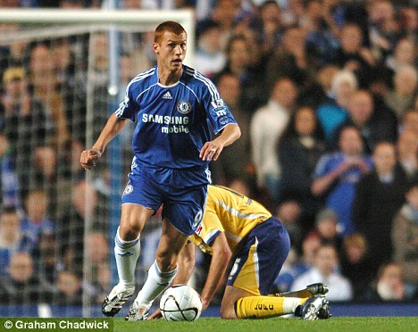 'Full on': Sidwell in a rare appearance for Chelsea