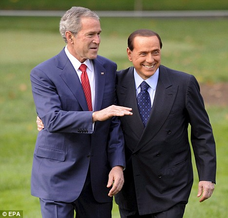 Earlier in the day the pair took a friendly stroll arm-in-arm through the White House lawn