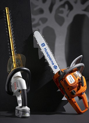 hedge trimmer and chainsaw