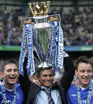 Chelsea could have missed out on the silverware-laden years of Jose Mourinho (centre)