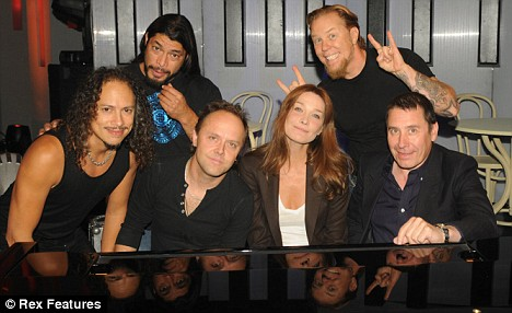 Carla Bruni and friends: The French first lady joined Metallica and friends in the studio with Jools Holland in London today