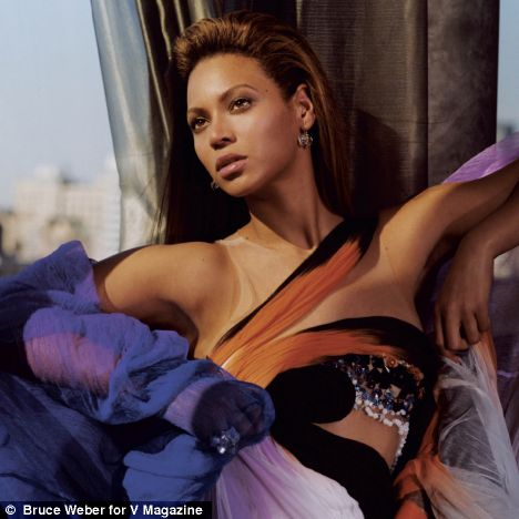 Beyoncé strikes a pose for V Magazine as she talks about her image: 'It's really hard to stay on earth sometimes when you're a celebrity'