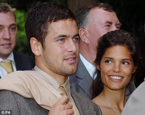 England and Chelsea 's Joe Cole and Carly Zucker at the wedding of Michael Carrick and Lisa at St Peter's Church, Wymondham June 16, 2007