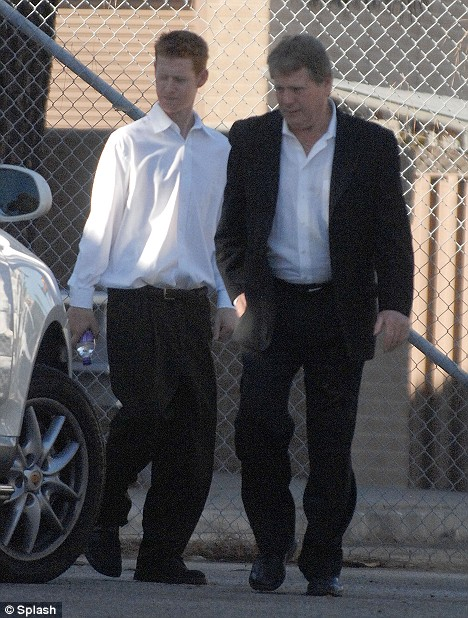 Ryan and Redmond O'Neal outside the Malibu court. The two have had previous brushes with the law