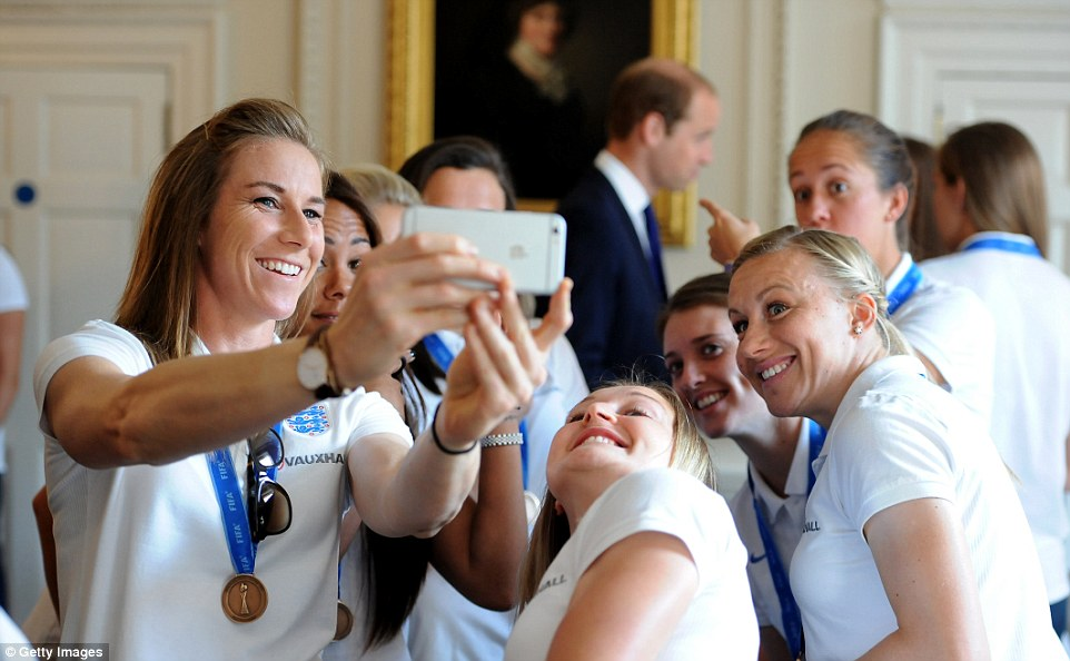 Another win for the girls! They were overjoyed as they managed to score their special one-off royal selfie