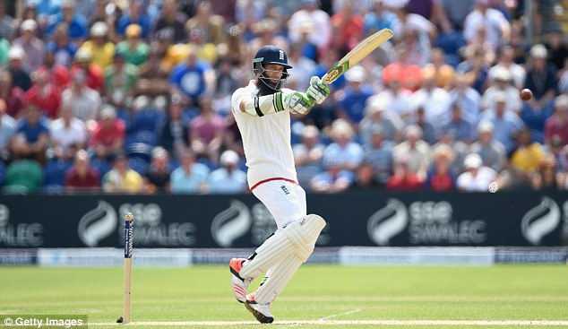 Moeen Ali hit a half-century to ease England over the 400-run mark in their first innings