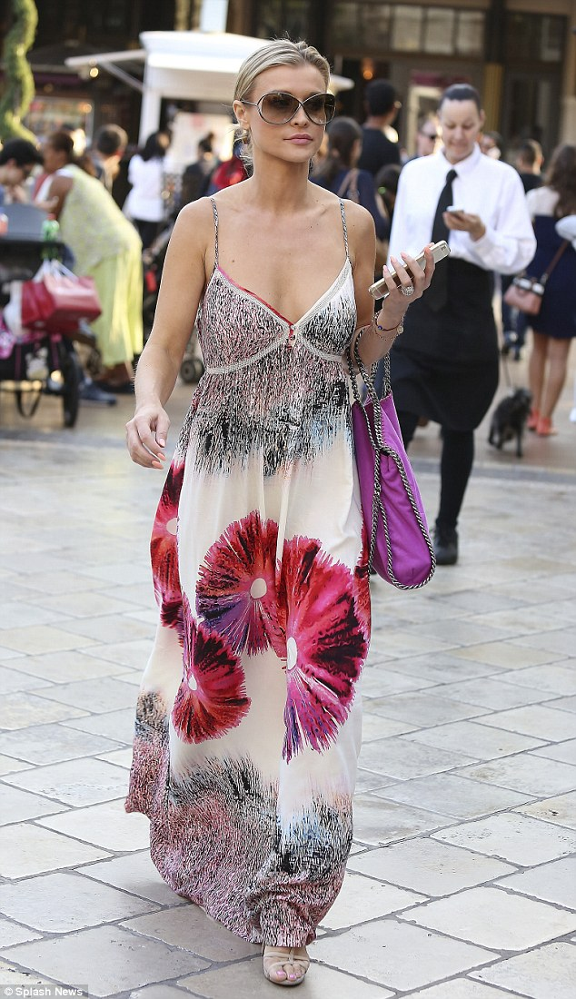 Floral beauty: Joanna Krupa, 36, brought some petal power to a shopping trip  in West Hollywood on Wednesday