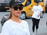 NEW YORK, NY - JULY 10:  Singer Rihanna is seen walking from the GYM in Soho on July 10, 2015 in New York City.  (Photo by Raymond Hall/GC Images)