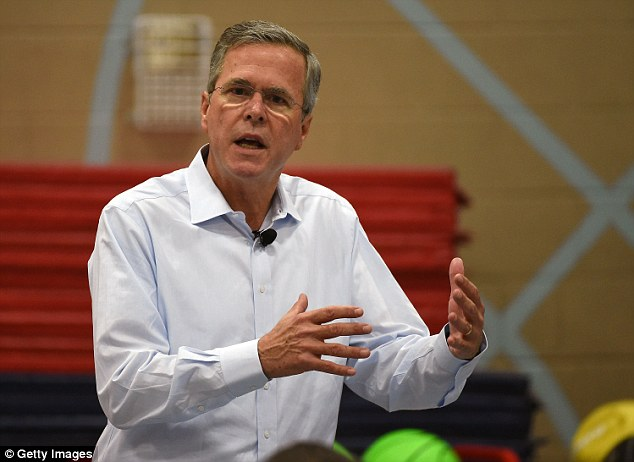 Fight: Then-Florida Gov. Jeb Bush got embroiled in the Schiavofamily's ordeal, ordering feeding tubes reinserted for Schiavo against her husband's wishes