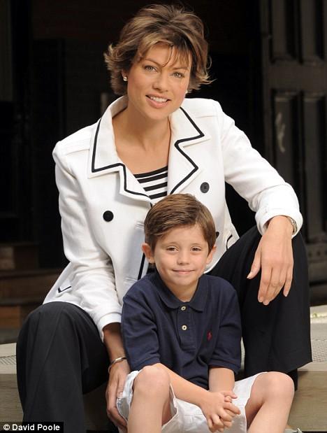 Kate Silverton and nephew Max