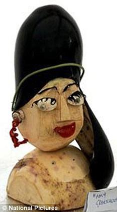 Vegetable portrait of Amy Winehouse