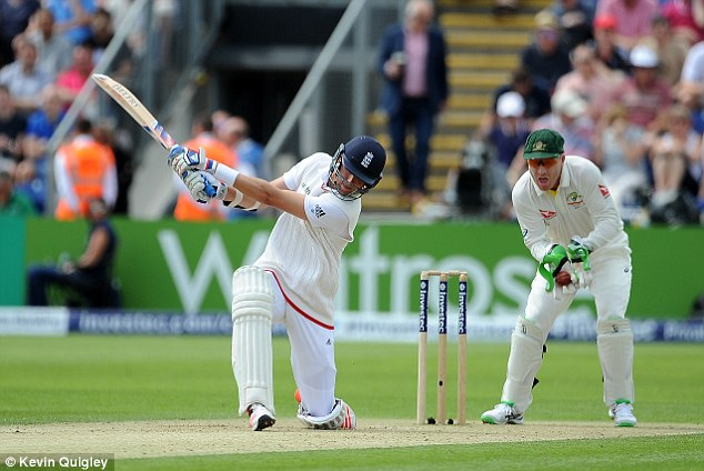 Broad finally lost his wicket for 18 as he edged Nathan Lyon behind into Brad Haddin's gloves
