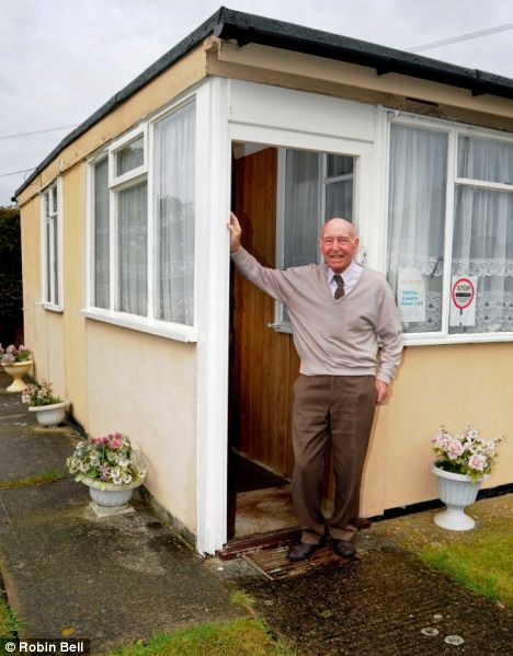 Eddie O'Mahony outside his prefabricated home in Lewisham