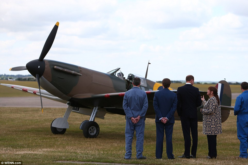 Prince William receives a Supermarine Spitfire MK 1 from American philanthropist Thomas Kaplan
