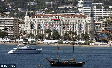 Boats are seen in the Bay of Cannes