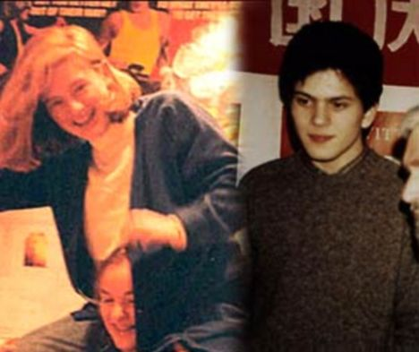 Young couple: Ms Kelly and David Miliband while they were at university. The pair had a brief fling and have been close friends ever since
