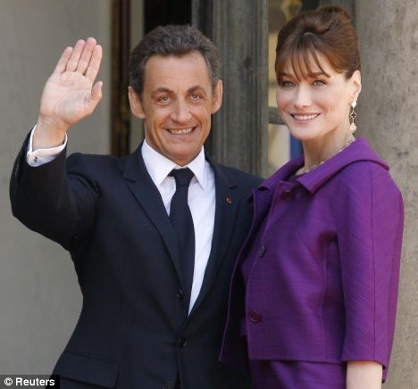 French President Nicolas Sarkozy and his wife Carla Bruni