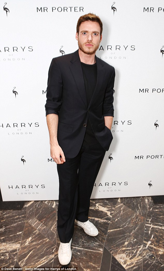 Newly single: Cinderella actor Richard Madden was one of the guests at the star studded event