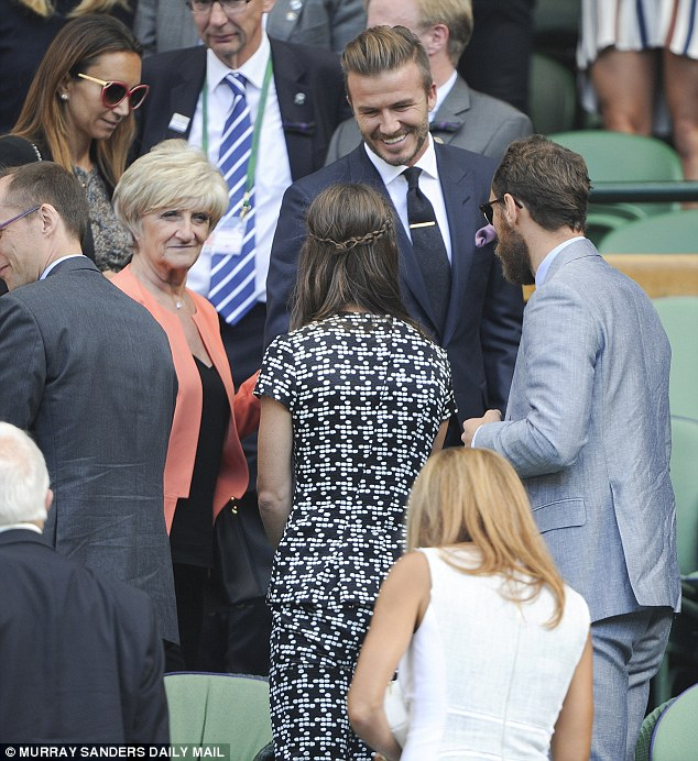David had treated mum Sandra to a day at the tournament after spending Wednesday in the stands with his son Romeo