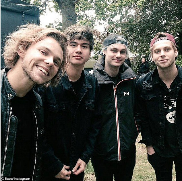 On the road: The boys from 5SOS will  wrap up their tour in the next coming weeks