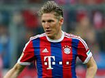 Bastian Schweinsteiger of Muenchen runs with the ball during the Bundesliga match between FC Bayern Muenchen and Hertha BSC Berlin at Allianz Arena on April 25, 2015 in Munich, Germany.    MUNICH, GERMANY - APRIL 25:  (Photo by Alexander Hassenstein/Bongarts/Getty Images)