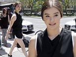 U.S actress/model Hailee Steinfeld is seen walking out of a radio station in Downtown Manhattan, New York, 10 July 2015.\n10 July 2015.\nPlease byline: Vantagenews.co.uk