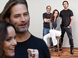 """SAN DIEGO, CA - JULY 10:  (L-R) Actors Peter Jacobson, Sarah Wayne Callies, and Josh Holloway of """"Colony"""" pose for a portrait at Getty Images Portrait Studio powered by Samsung Galaxy at Comic-Con International 2015 at Hard Rock Hotel San Diego on July 10, 2015 in San Diego, California.  (Photo by Maarten de Boer/Getty Images)"""