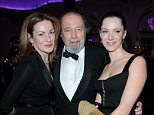 28/11/2010 Evening Standard Theatre Awards 2010 at The Savoy Hotel Sir Peter Hall with his wife Lady Nikki Hall and daughter Rebecca Hall