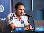 Frank Lampard at his New York City FC unveiling 07/076/15