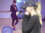 Woodland Hills, CA - Khloe Kardashian stopped in at Regency Salon Studios in Woodland Jills on Saturday afternoon to get her eyebrows touched up. The reality starlet dressed casually in athletic garb, coming straight from her daily workout in Beverly Hills. Khloe was intercepted by a few fans as she entered the salon, and she graciously obliged to pose for a photo.\nAKM-GSI     July 11, 2015\nTo License These Photos, Please Contact :\nSteve Ginsburg\n(310) 505-8447\n(323) 423-9397\nsteve@akmgsi.com\nsales@akmgsi.com\nor\nMaria Buda\n(917) 242-1505\nmbuda@akmgsi.com\nginsburgspalyinc@gmail.com