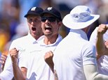 CARDIFF, WALES - JULY 10:  England captain Alastair Cook and team mates celebrate after bowler Stuart Broad had dismissed Shane Watson during day three of the 1st Investec Ashes Test match between England and Australia at SWALEC Stadium on July 10, 2015 in Cardiff, United Kingdom.  (Photo by Stu Forster/Getty Images)