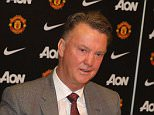 MANCHESTER, ENGLAND - JULY 10:  Manager Louis van Gaal of Manchester United speaks at a press conference to announce the signing of Memphis Depay at Old Trafford on July 10, 2015 in Manchester, England.  (Photo by John Peters/Man Utd via Getty Images)