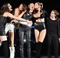EAST RUTHERFORD, NJ - JULY 10:  Singer/songwriter Taylor Swift performs onstage with Hailee Steinfeld, Gigi Hadid, Lily Aldridge and Lena Dunham during The 1989 World Tour Live at MetLife Stadium on July 10, 2015 in East Rutherford, New Jersey.  (Photo by Larry Busacca/LP5/Getty Images for TAS)